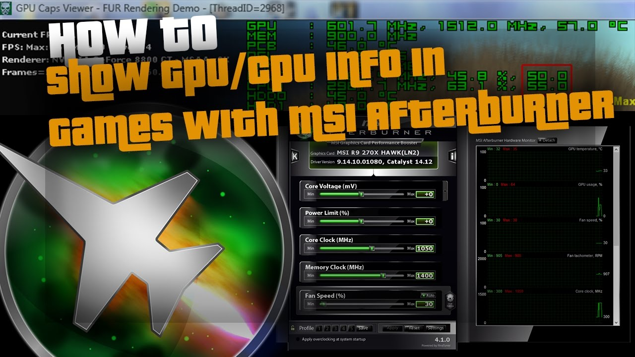 How To Overlay GPU Info, Fps Etc With MSI Afterburner