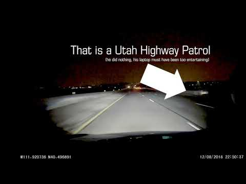 12/08/2018 - Drives wrong way down the highway right past a Utah Highway Patrol who does nothing