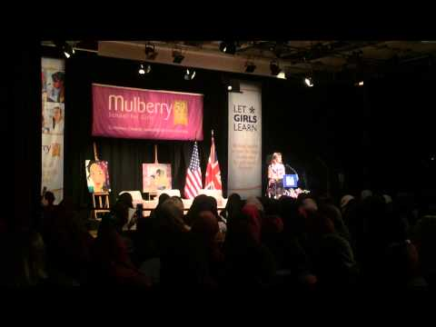 The First Lady speaks at Mulberry School For Girls