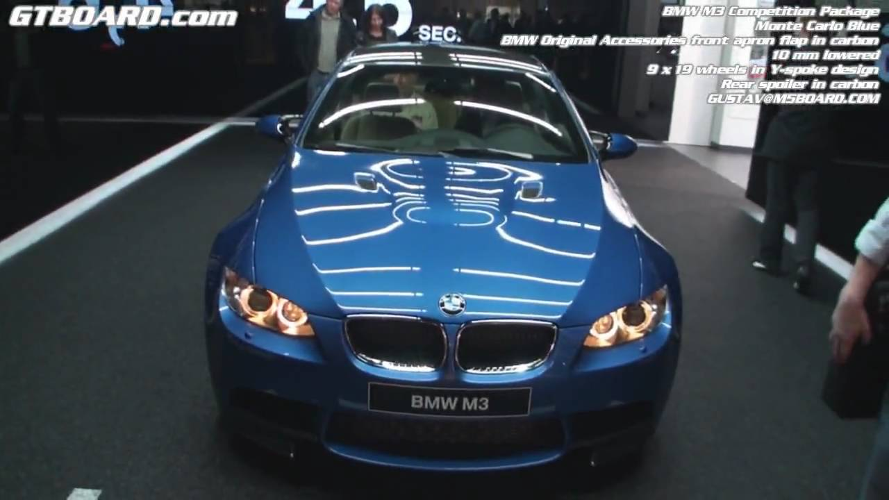 BMW M3 Competition Package Monte Carlo Blue faclifted LCI