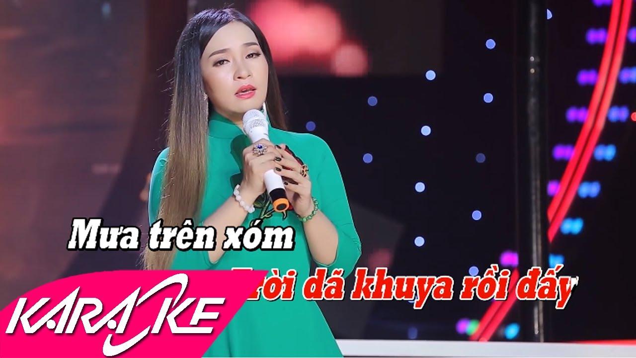 Mưa Đêm Ngoại Ô Karaoke - Đào Anh Thư   Bolero Nhạc Vàng Karaoke Beat