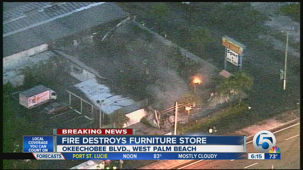 Chopper 5 Aerial Footage Of Sunniland Patio Furniture Store Fire