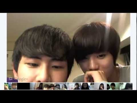 120818 Infinite - Google+ Hangout from their hotel in Japan