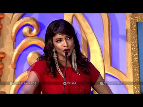Lakshmi Manchu Making Fun On Allu Sirish - SIIMA 2016 Telugu