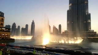 Dubai Fountain - Flying Drums