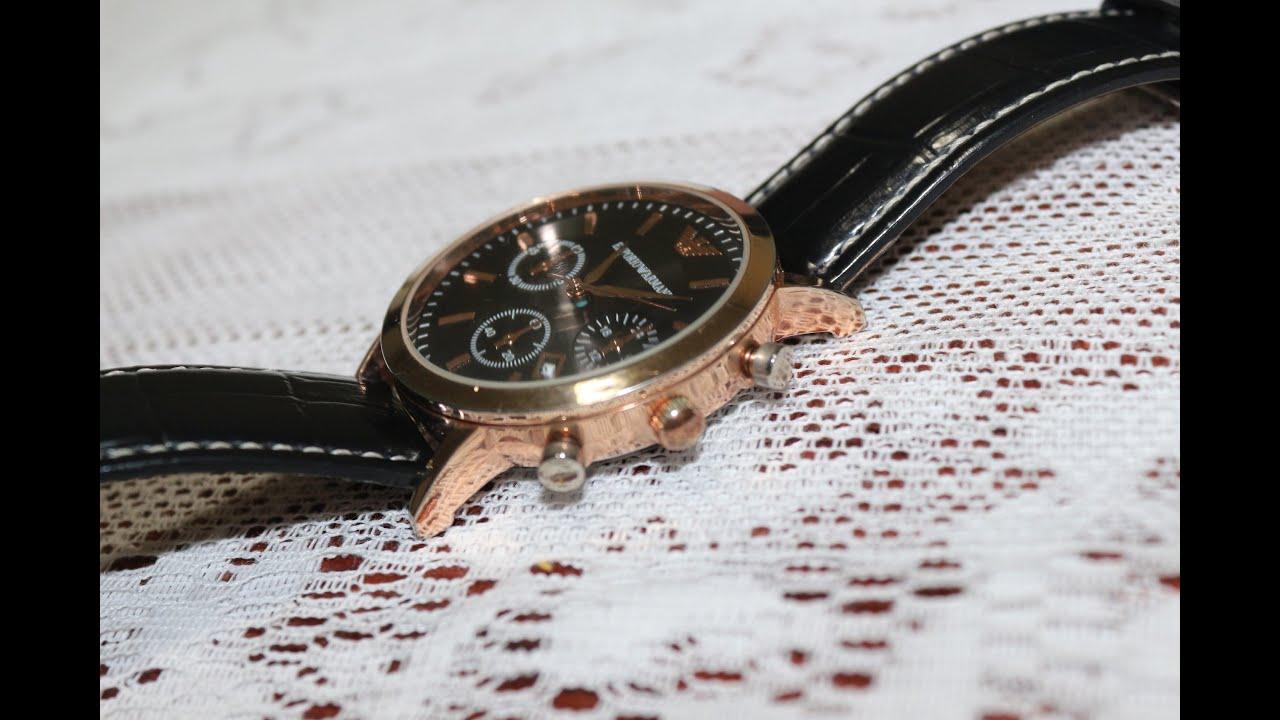 """dd55213854ac7 Unboxing """"Réplica de 2°"""" relógio Emporio Armani - Aliexpress - YouTube"""