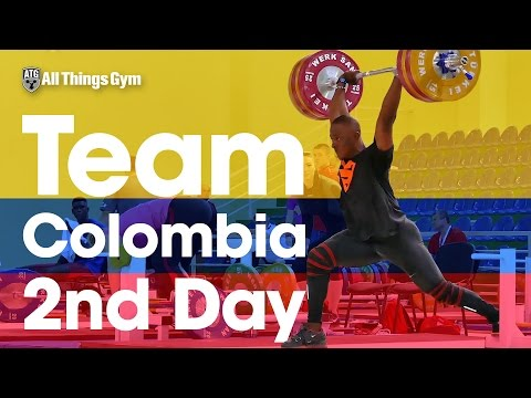 🇨🇴 Team Colombia 🇨🇴 Day 2 Yeison Lopez Going Heavy 2016 Junior Worlds Training Hall