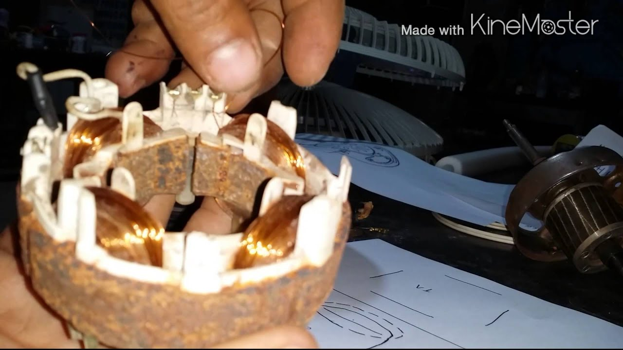 Aprendendo A Consertar Bobina De Ventilador Arno