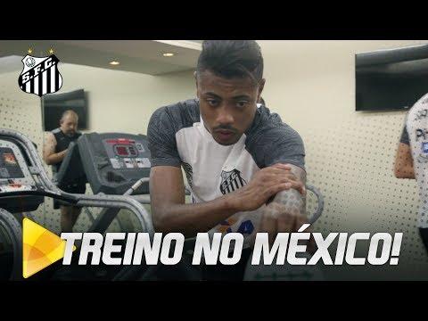 Santos faz primeiro treino no México