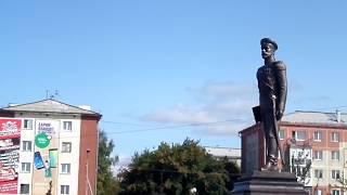 Открытие памятника Николаю II в городе Ленинске-Кузнецком