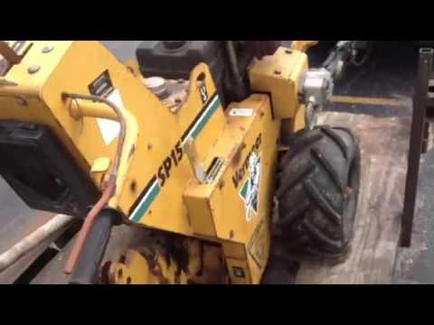 Vermeer sp15 vibratory plow walk behind
