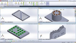 SolidWorks Pattern Feature Tutorial Complete | Linear, Circular Pattern, Curve Driven Pattern