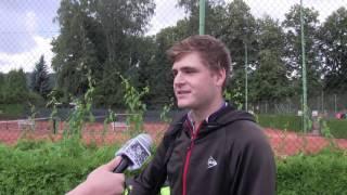 Yvo Panák po výhře v prvním kole kvalifikace na turnaji Futures v Ústí n. O.