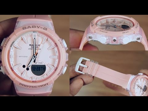 247e047ce483b CASIO BABY-G STEP TRACKER BGS-100-4A - UNBOXING - YouTube