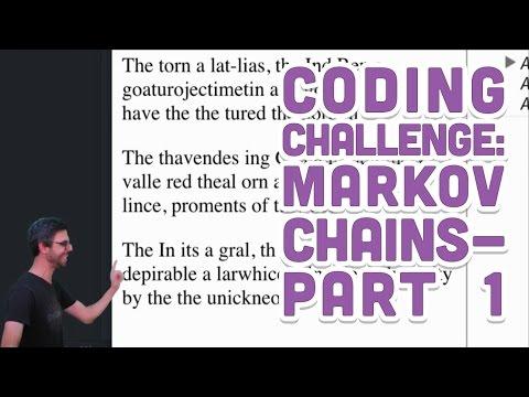 Coding Challenge #42.1: Markov Chains - Part 1