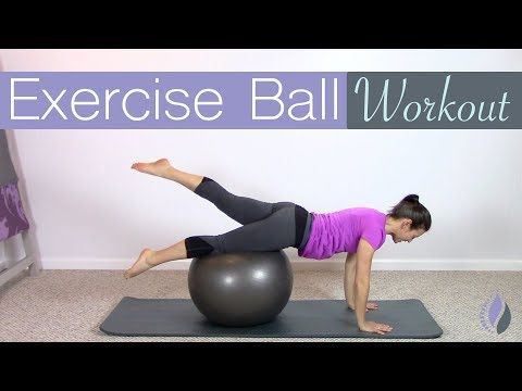 20 Minute Pilates Workout with an Exercise Ball