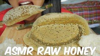 ASMR RAW Whole Honey Comb (SOFT STICKY EATING SOUNDS) No Talking #6 | SAS-ASMR
