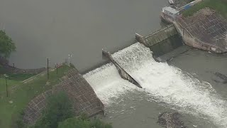 Lake Dunlap expected to empty after partial dam failure