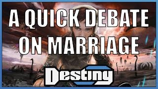 A quick debate on marriage