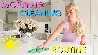 DAILY MORNING CLEANING ROUTINE  |  SPEED CLEANING  |  EMILY NORRIS