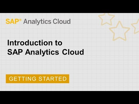 Introduction to SAP Analytics Cloud - YouTube