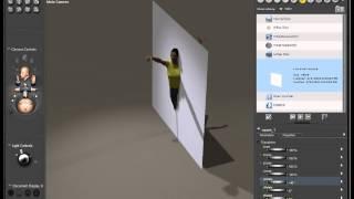 Poser Pro, 2012 видео урок;Создание зеркала