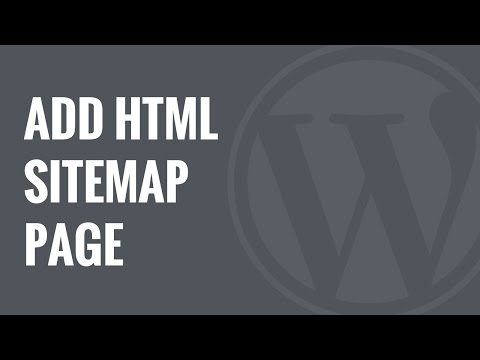 How To Add An HTML Sitemap Page In WordPress