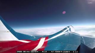 MiG-29 Edge of Space flight - Outside camera #1 - full length