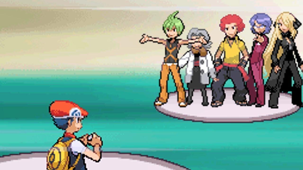 All Elite Four Battles in Sinnoh!! Pokemon Diamond Version