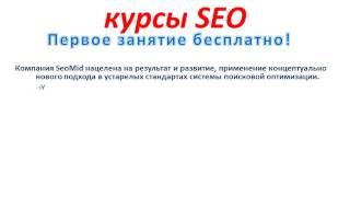 Курсы SEO - индивидуальное обучение раскрутке сайтов в Киеве. Первый урок БЕСПЛАТНО