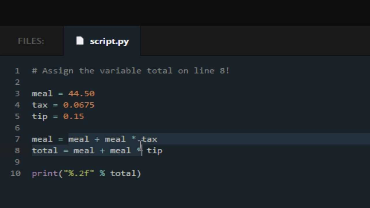 codecademy python lessons tip calculator youtube
