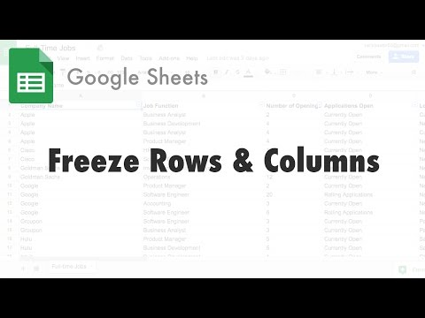 Freezing or Unfreezing Rows in Google Docs Spreadsheets — Guide 2 Office