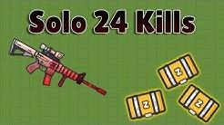 Zombs Royale - Solo 24 Kills - Scoped M4 Destruction