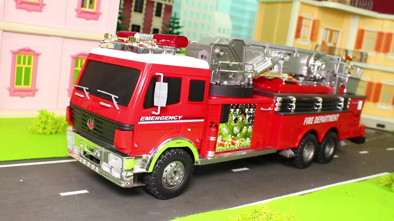 Fire Truck Excavator Train Tractor Police Cars