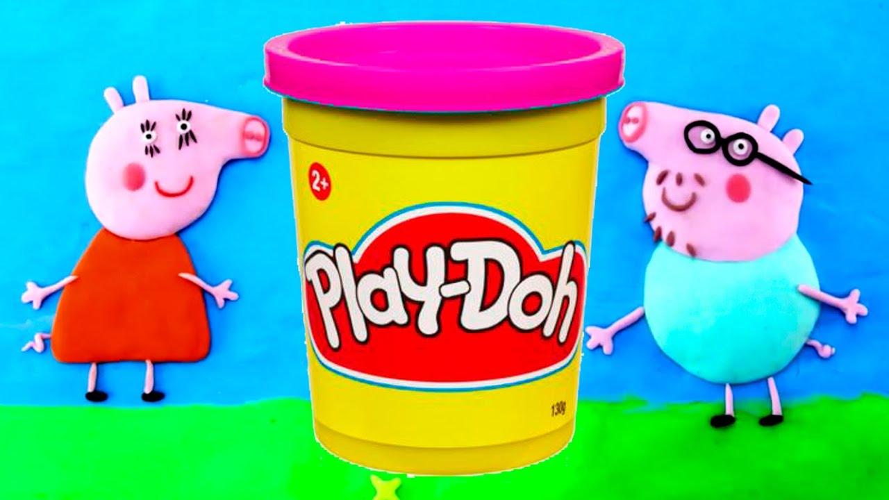 peppa pig play doh video youtube