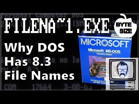 Why does DOS use 8.3 Filenames? [Byte Size] | Nostalgia Nerd