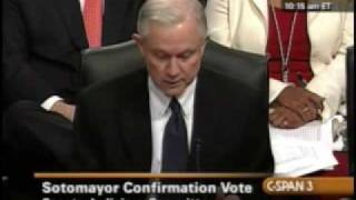 Sen. Jeff Sessions' statement against Judge Sotomayor Free HD Video