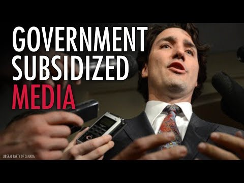 Canada's mainstream media bought and paid for by government