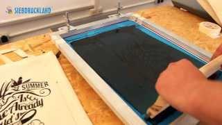 Siebdruck auf Baumwolltaschen Teil 1