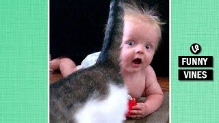 IMPOSSIBLE TRY TO STOP LAUGHING challenge - Super FUNNY BABY & ANIMAL VINE compilation