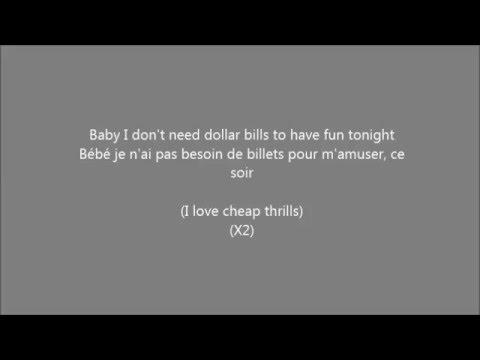 Sia - Cheap Thrills (Lyric + Traduction + Parole) - YouTube