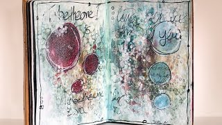 Mixed Media - Live Life - Art Journal Page #5