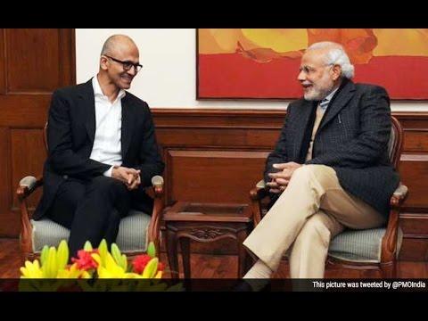 Satya Nadella, CEO, MICROSOFT at Digital India Summit | Narendra Modi In US