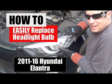 How to Easily Replace 2013 Hyundai Headlight Bulbs (Driver & Passenger) | DIY / How To