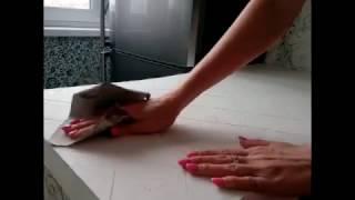 Как сделать широкий подоконник из штукатурки/The shill of plaster