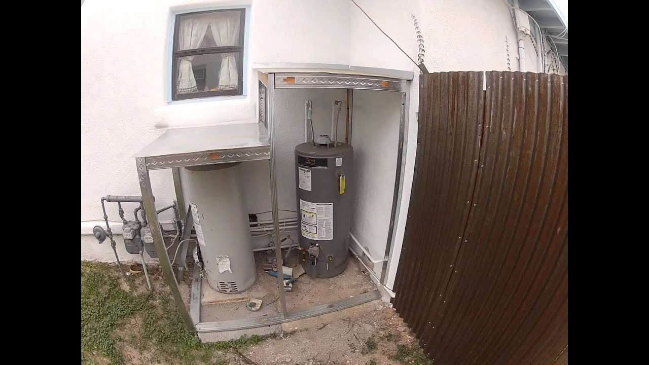 2 outdoor water heaters horribly unsafe youtube