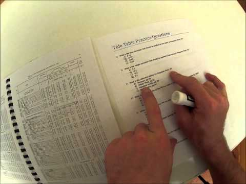 Tide Tables Video Lecture And Practice Problems