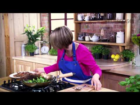 Beef and purple sprouting broccoli stir-fry recipe Waitrose
