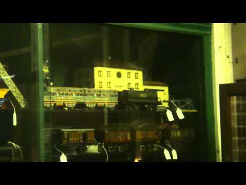 Antique Tin Trains....Cabinet full