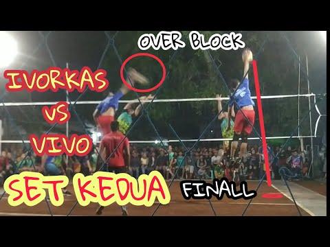 OVER BLOCK,, FINAL SET KEDUA Vivo Vs Ivorkas Hebohh penonton -- Voli tutorial - 동영상